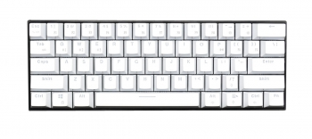 Royal Kludge RK61 Black Case White Keycaps