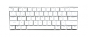 Royal Kludge RK61 White Case White Keycaps