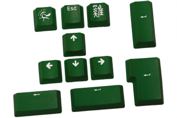 Ducky 11-Key PBT Doubleshot Color Keycap Set - Forest Green