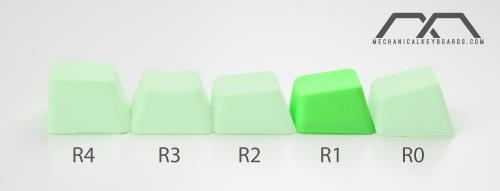 4-Key TPR Blank Rubber Keycap Set - Neon Green - Row 1 (Tai-Hao) image