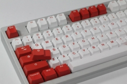 Vortex Red - Bi-Color PBT Double Shot Keycap Set