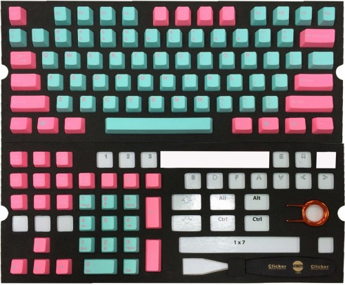 Tai-Hao 104 Key PBT Double Shot Keycap Set - Miami