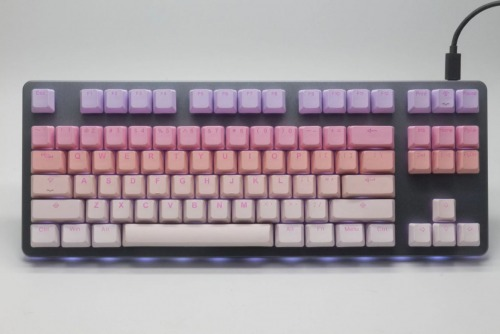 Tai-Hao 140 Key PBT Double Shot Backlit Keycap Set - Sakura Michi