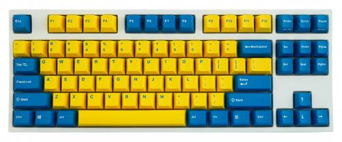 Leopold FC750R Yellow/Blue PD White Case