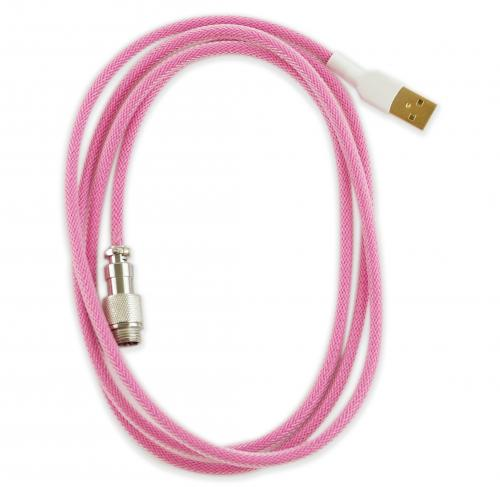 Pink Sleeved Aviator Universal USB Keyboard Cable image