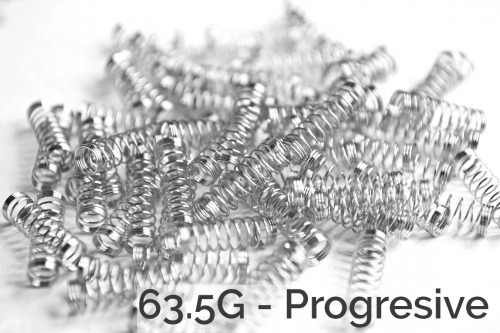 SPRiT 100x Cherry MX Progressive Stainless Steel Springs - 63.5G - SPRiT Edition