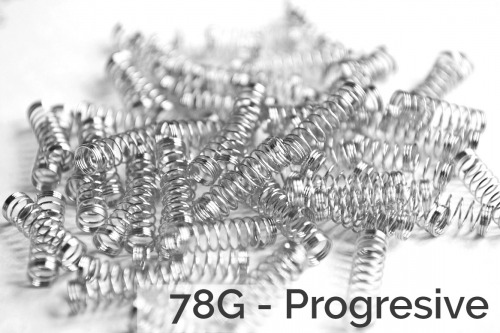SPRiT 100x Cherry MX Progressive Stainless Steel Springs - 78G - SPRiT Edition