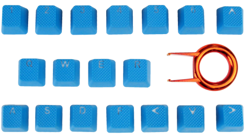 Tai-Hao 18-Key TPR Backlit Double Shot Rubber Keycap Set - Sky Blue
