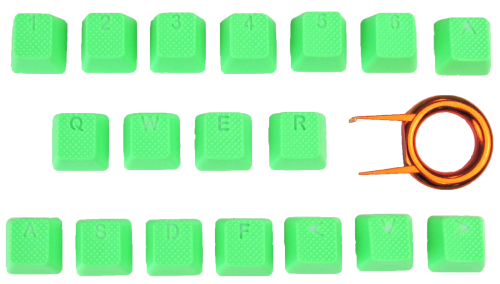 Tai-Hao 18-Key TPR Backlit Double Shot Rubber Keycap Set - Neon Green