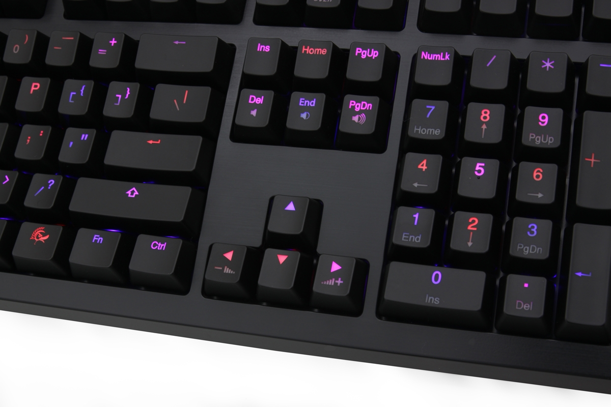 d3c97533dd Ducky Shine 4 Blue / Red LED Double Shot Mechanical Keyboard (Blue Cherry  MX)