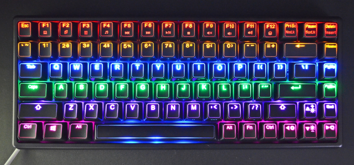 keycool 84 multi led tkl mechanical keyboard red kailh