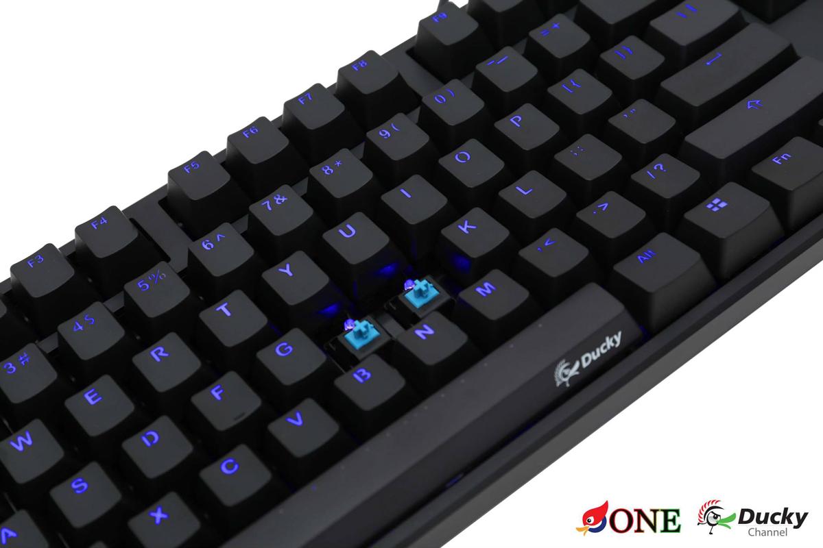 Ducky One Blue Led Backlit Mechanical Gaming Keyboard