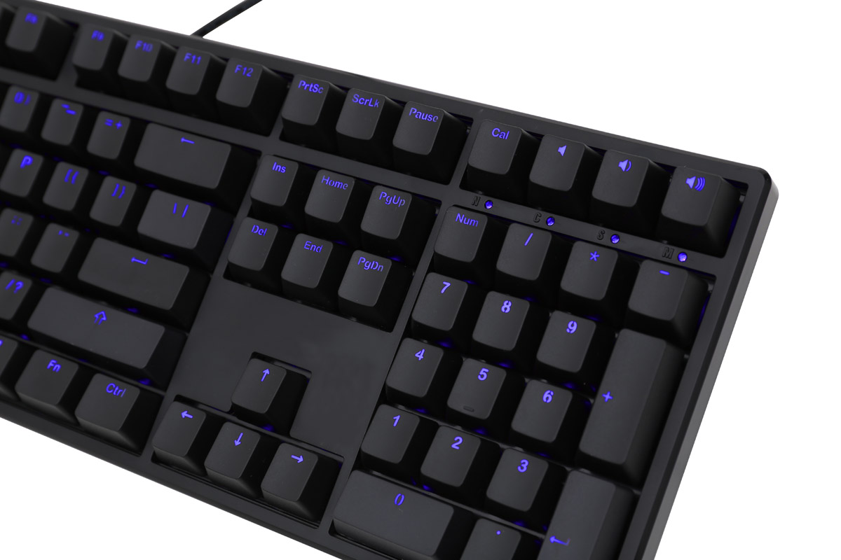 Ducky One Blue Led Double Shot Mechanical Keyboard Brown