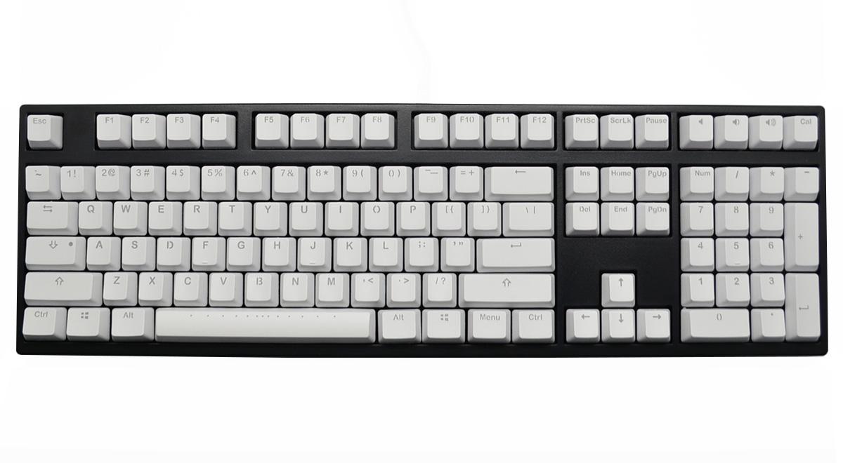 48a7a060343 126 Key Double Shot PBT Keycap Set - White Translucent (Vortex)