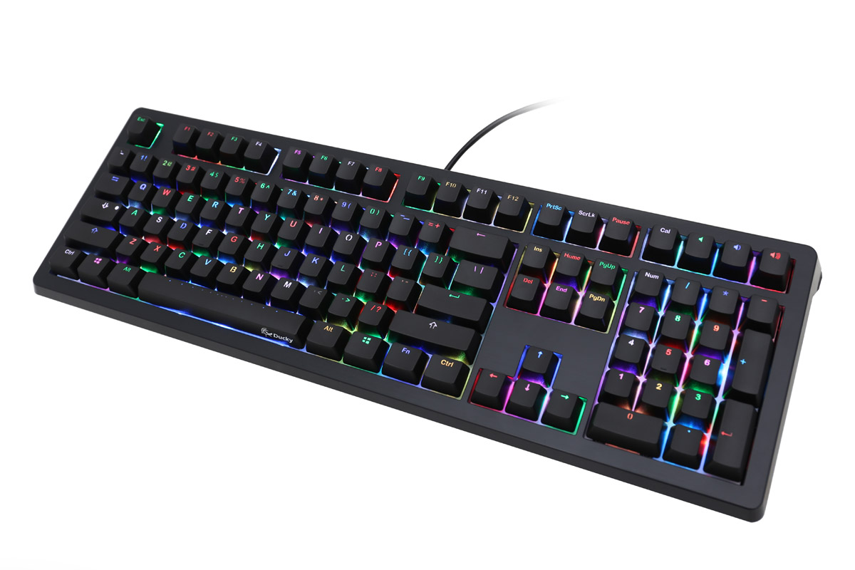ad3df841f3f Ducky Shine 5 RGB LED Double Shot Mechanical Keyboard (Blue Cherry MX)