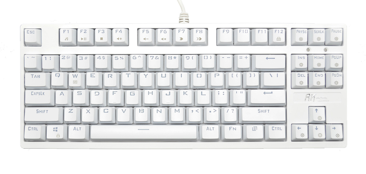 Royal Kludge RG-987 White Case RGB LED TKL Double Shot ABS Mechanical  Keyboard with Greetech Brown, Blue, or Red switches