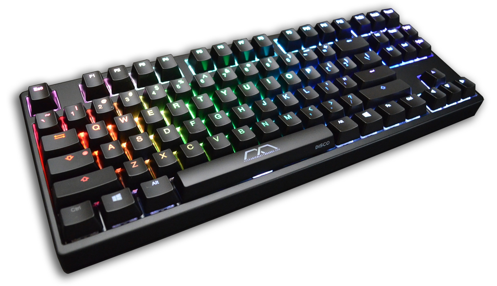 6f3f6ed77b4 MK Disco Black ABS Keycaps RGB LED TKL Double Shot Mechanical Keyboard (KBT  Blue)