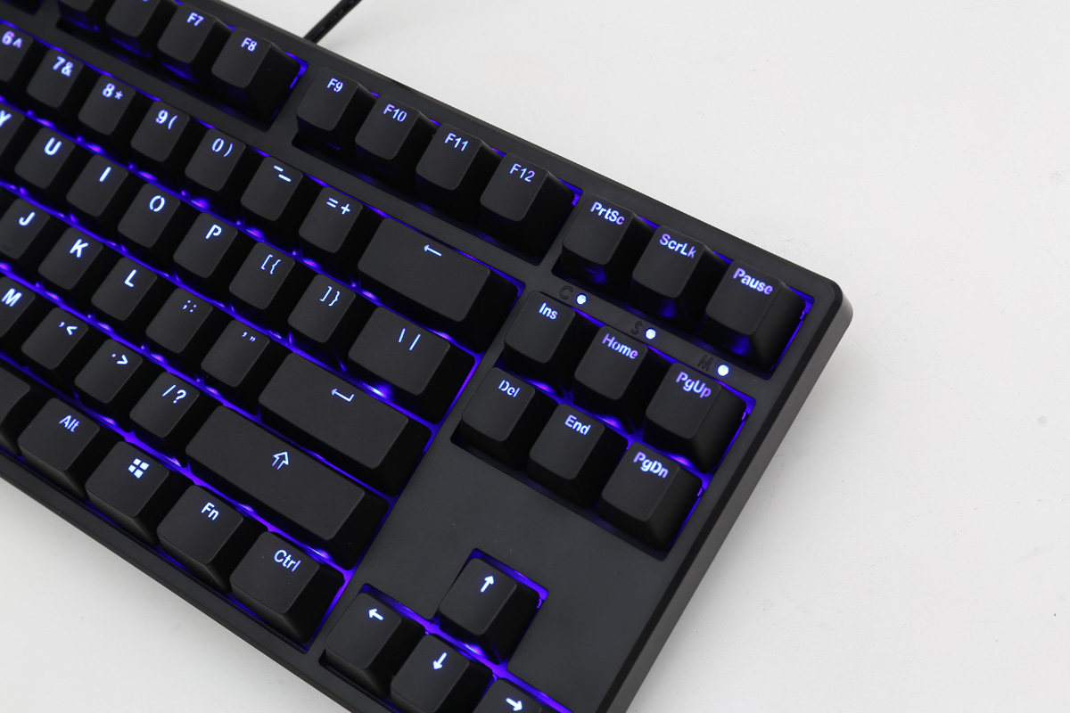 edf8fdc1ce9 Ducky One Blue LED TKL Double Shot Mechanical Keyboard (Blue Cherry MX)