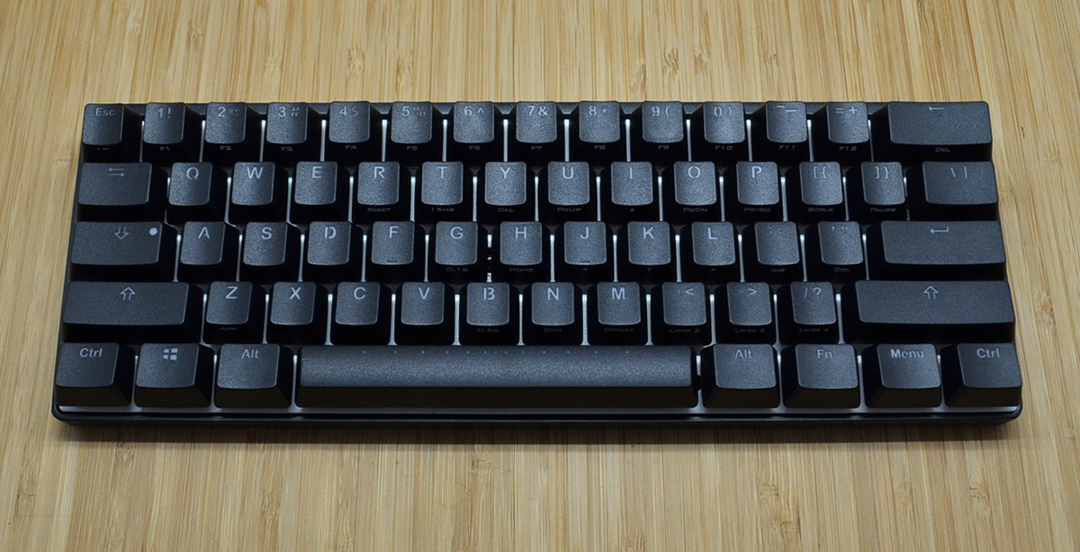 7d5ea54d8d9 Vortex POK3R Black Case RGB LED 60% Mechanical Keyboard with Cherry ...