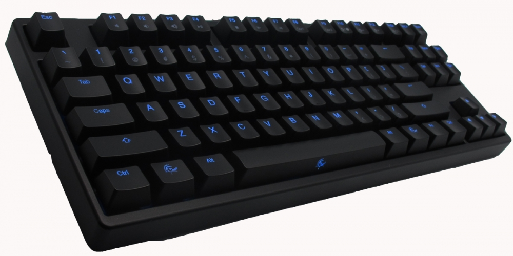 ducky shine 2 blue led tkl mechanical keyboard brown cherry mx