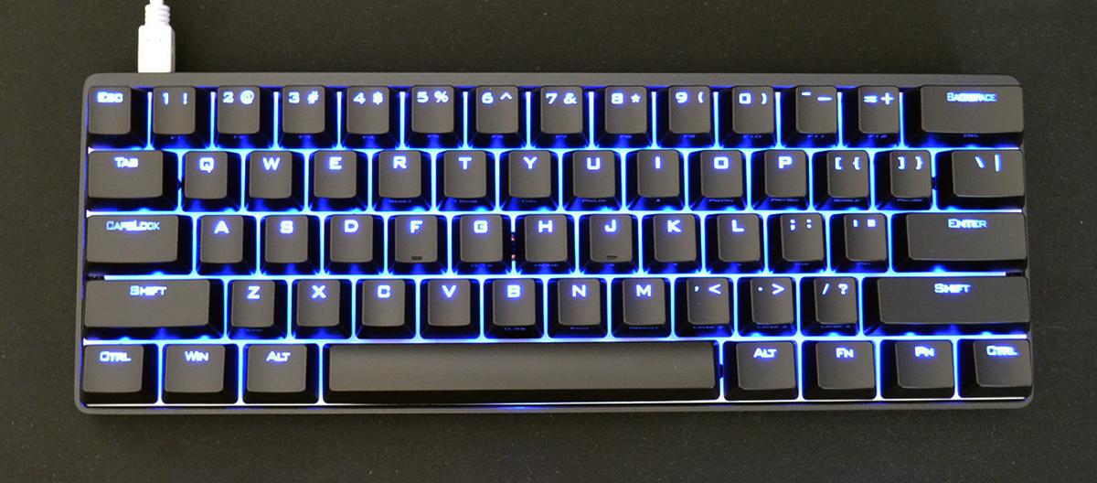 Vortex Pok3r Blue Led 60 Mechanical Keyboard Blue Cherry Mx