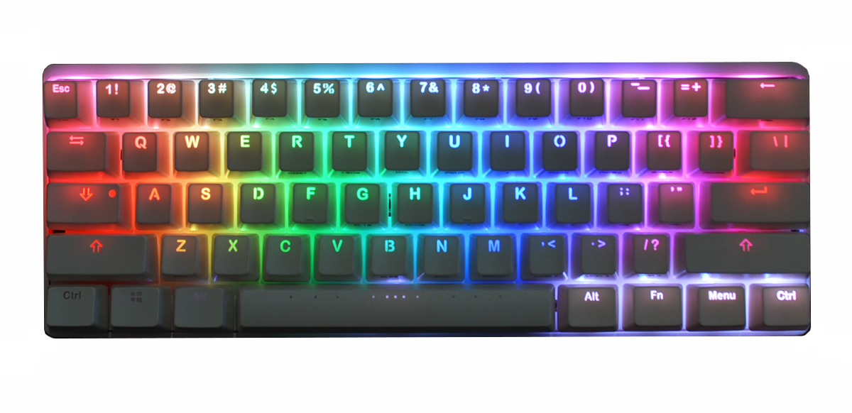 a55902c5be9 Vortex POK3R RGB Backlit 60% Double Shot Mechanical Keyboard (Nature White  Cherry MX)