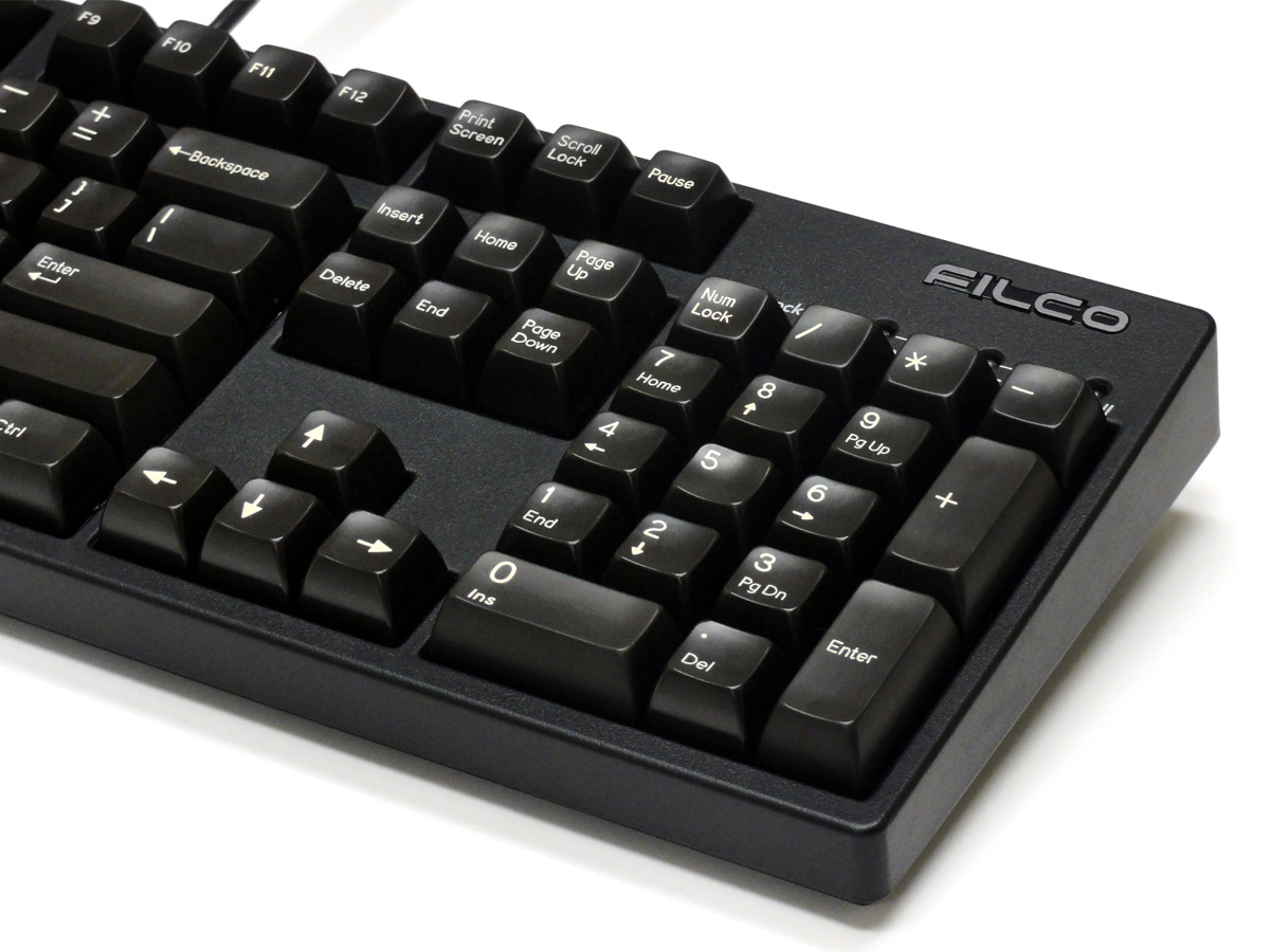 Double Shot 104-Key Keycap Set - Black (Filco)