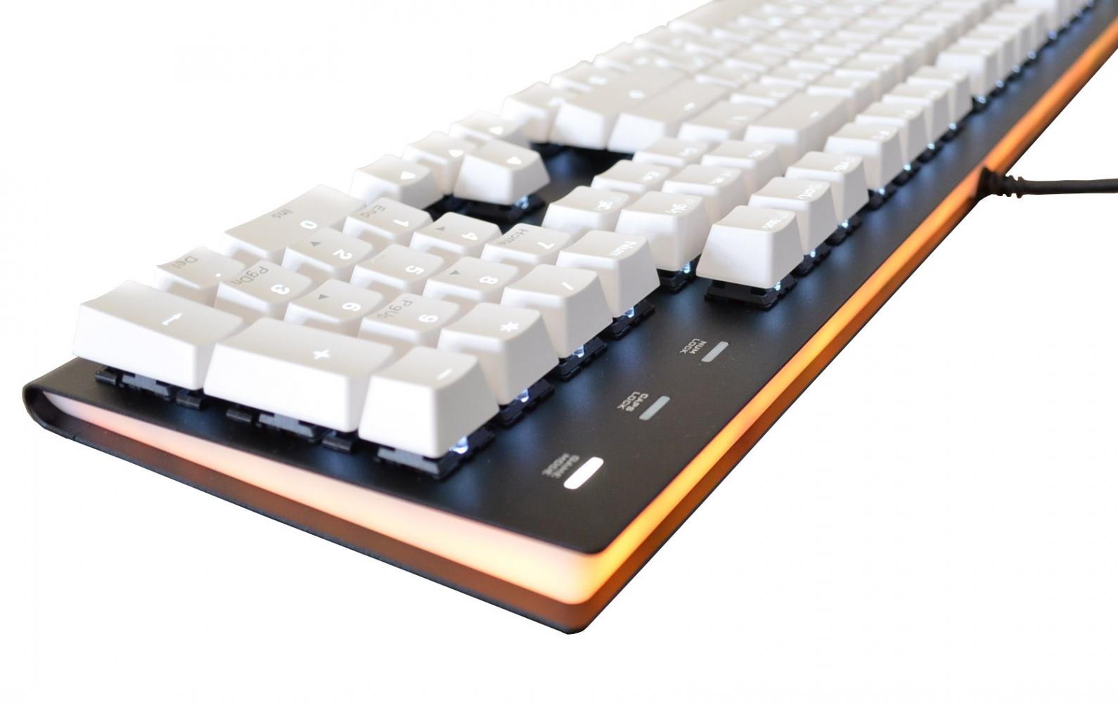 570a8515338 MK Fission White Keycaps White LED Double Shot PBT Mechanical ...