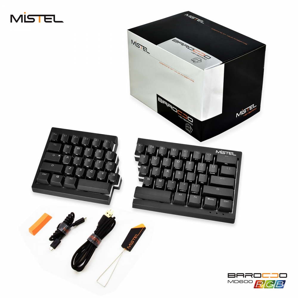 39fc9aa7f5d Mistel Barocco Black RGB Backlit 60% Double Shot PBT Mechanical Keyboard  (Brown Cherry MX)