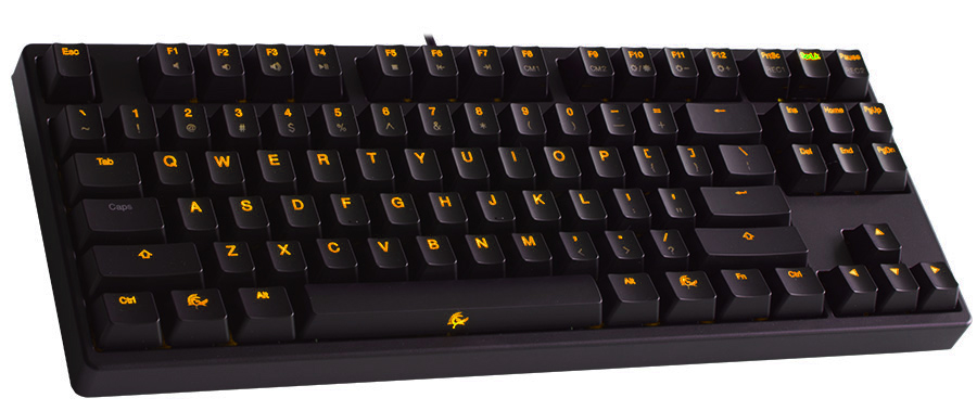 Ducky Shine 2 Yellow LED TKL Mechanical Keyboard (Blue