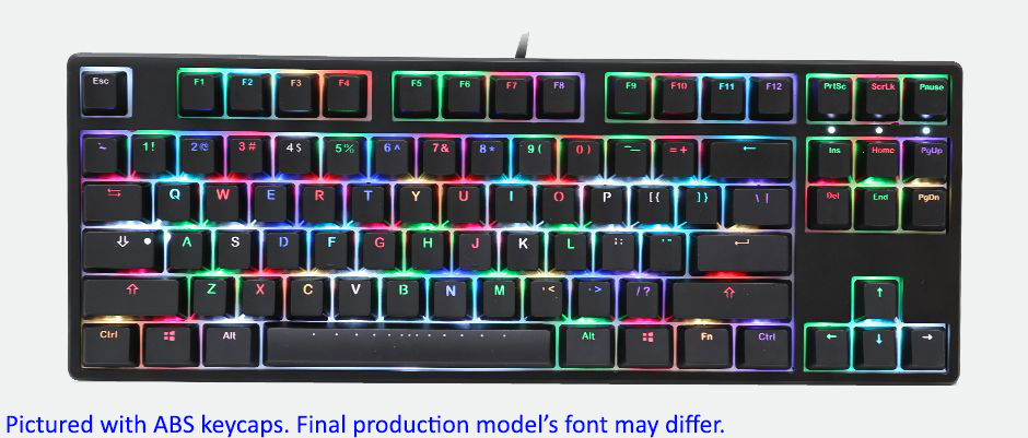 070ca26736c Ducky One RGB RGB LED TKL Double Shot PBT Mechanical Keyboard