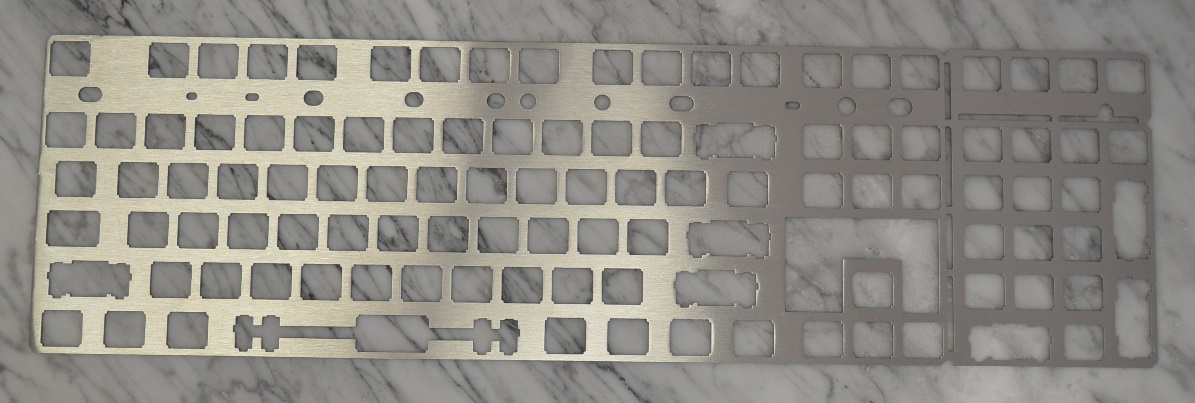 universal 108 key brushed stainless steel ansi 125 plate by