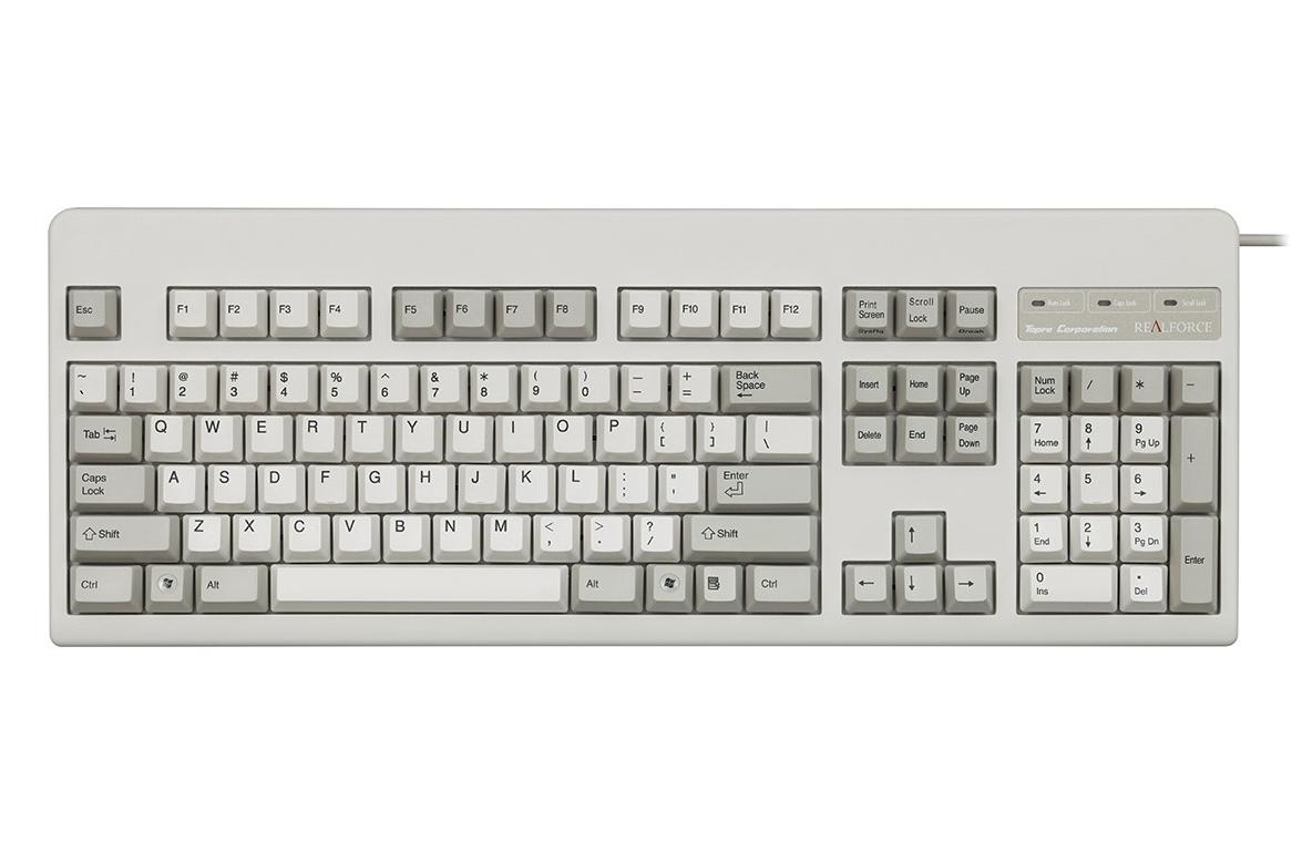 Topre Realforce 104U White Silent Dye Sub PBT Mechanical ...