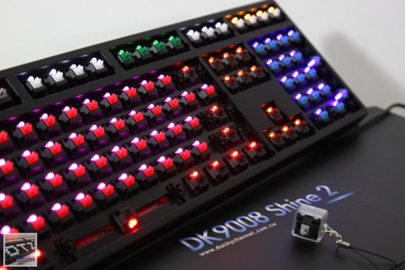 ducky shine 2 multi led mechanical keyboard  multi cherry mx