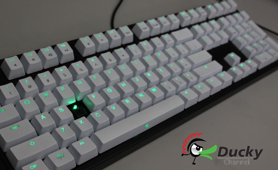 Ducky Shine 2 Green LED Mechanical Keyboard (Brown Cherry MX)