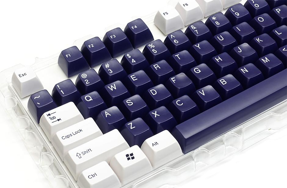 Doubleshot ABS 104-Key Keycap Set - Navy & White (Filco)