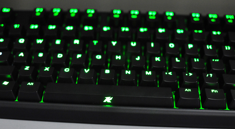 Keycool 87 Green Led Tkl Mechanical Keyboard Brown Kailh