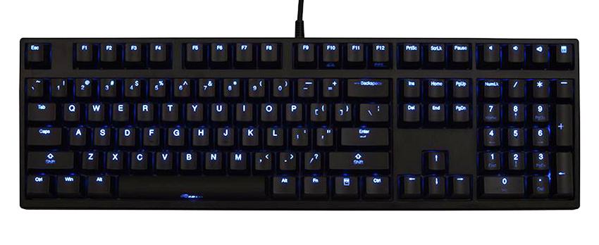 ducky zero shine blue led mechanical keyboard blue cherry mx. Black Bedroom Furniture Sets. Home Design Ideas