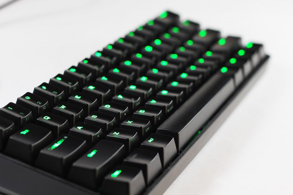 f27fc0467c7 Vortex Poker II Green LED 60% Mechanical Keyboard with Cherry MX Blue,  Brown, or Red switches