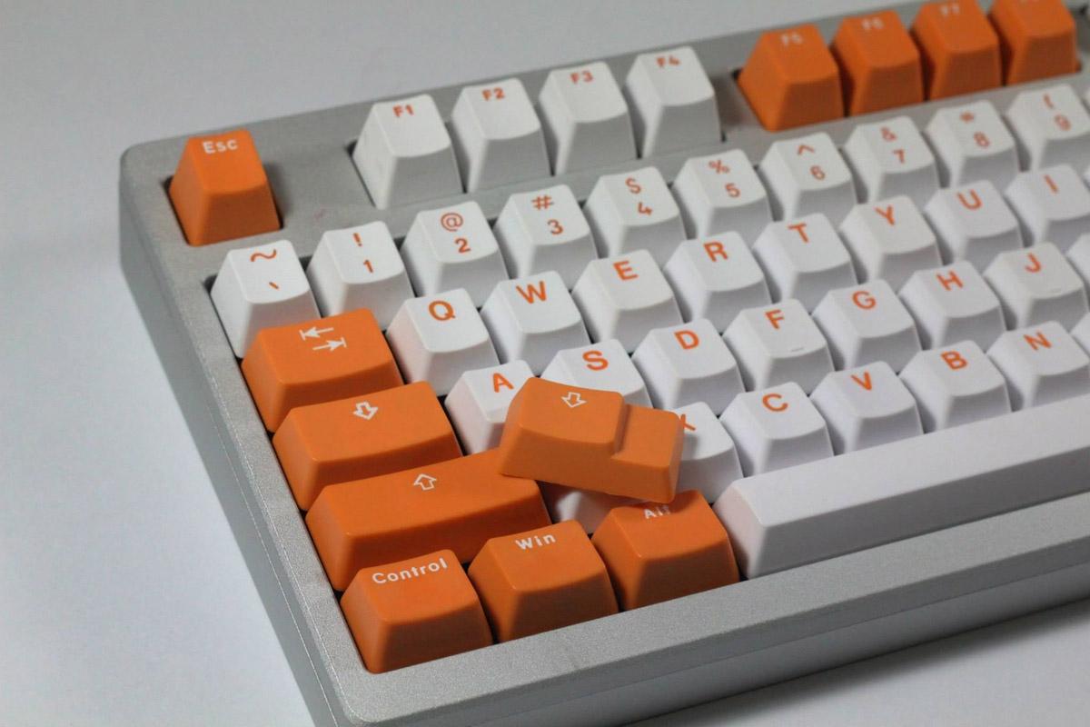 Orange - Bi-Color PBT Double Shot Keycap Set (Vortex)