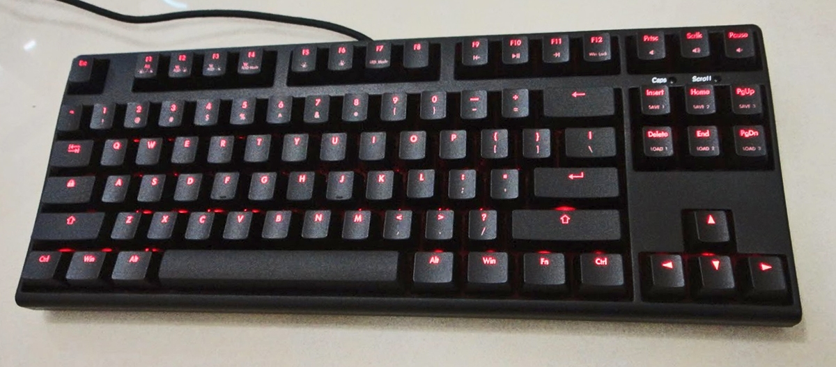 KBParadise TKL V80 Green & Red Dual LED Backlit Mechanical Gaming ...