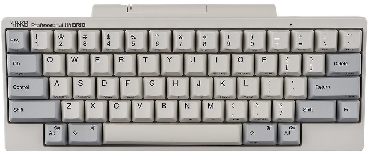 Hhkb Hybrid White 60 Dye Sub Pbt Mechanical Keyboard With Topre 45g Switches