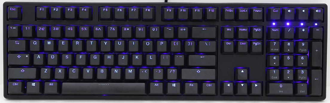 Keyboard Ducky One Blue LED PBT Cherry MX Red
