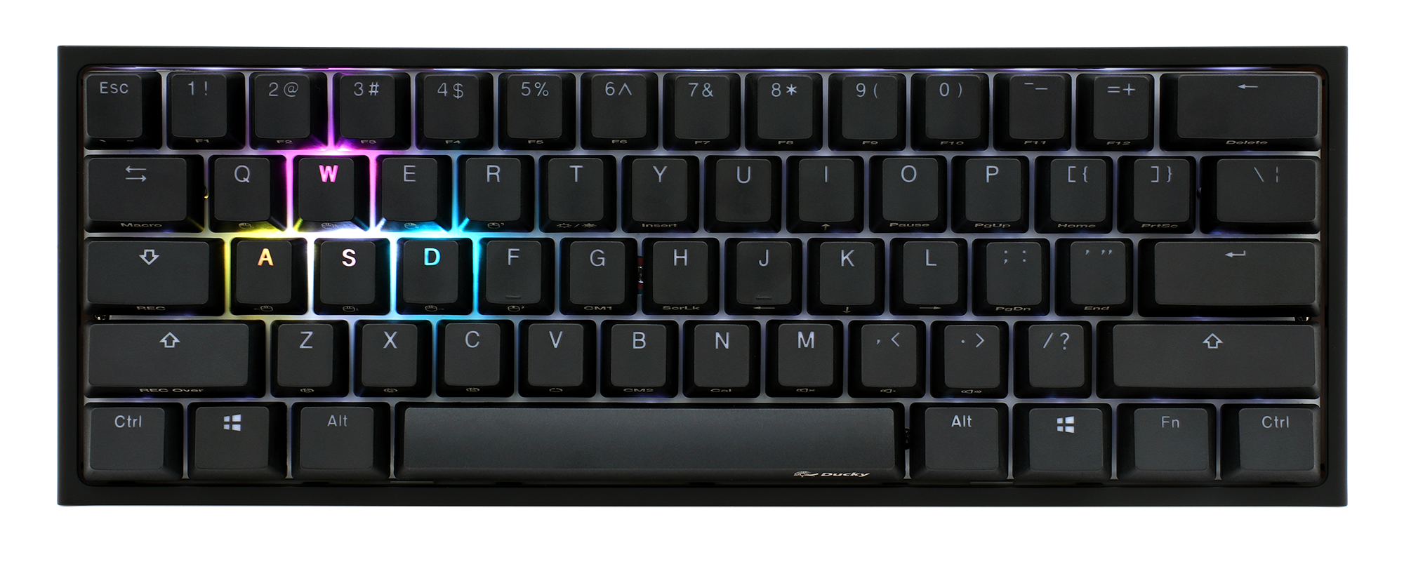 4df54776448 Ducky One 2 Mini RGB LED 60% Double Shot PBT Mechanical Keyboard ...