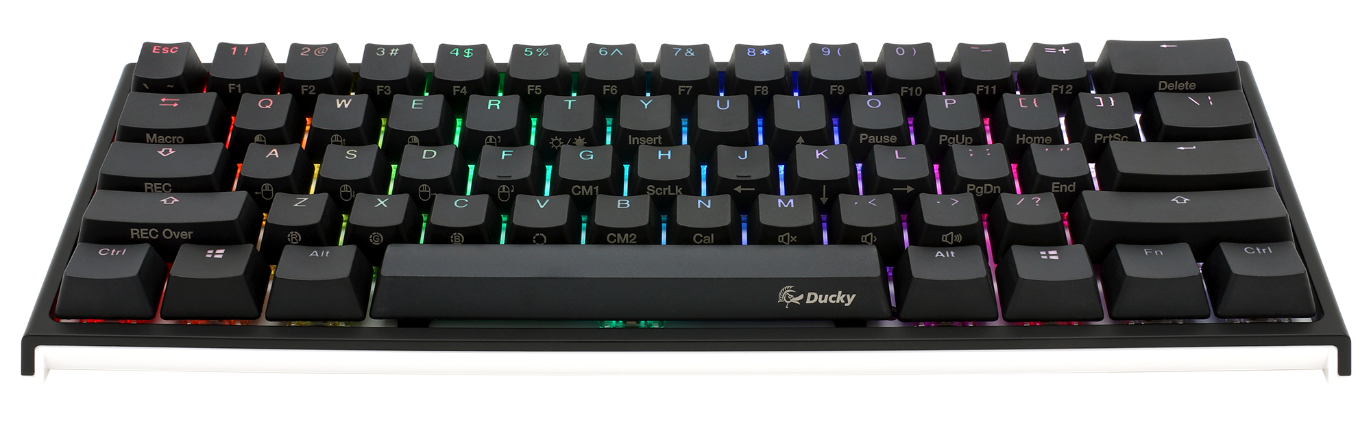 Ducky One 2 Mini RGB LED 60% Double Shot PBT Mechanical Keyboard with  Cherry MX Brown, Blue, Red, Black, Silver, or Silent Red switches