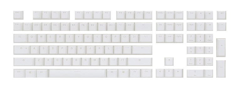 Keyboard keycaps Pbt Keycaps White Dsa Pbt Blank Keycaps for Mechanical Gaming Keyboard Color : Color3