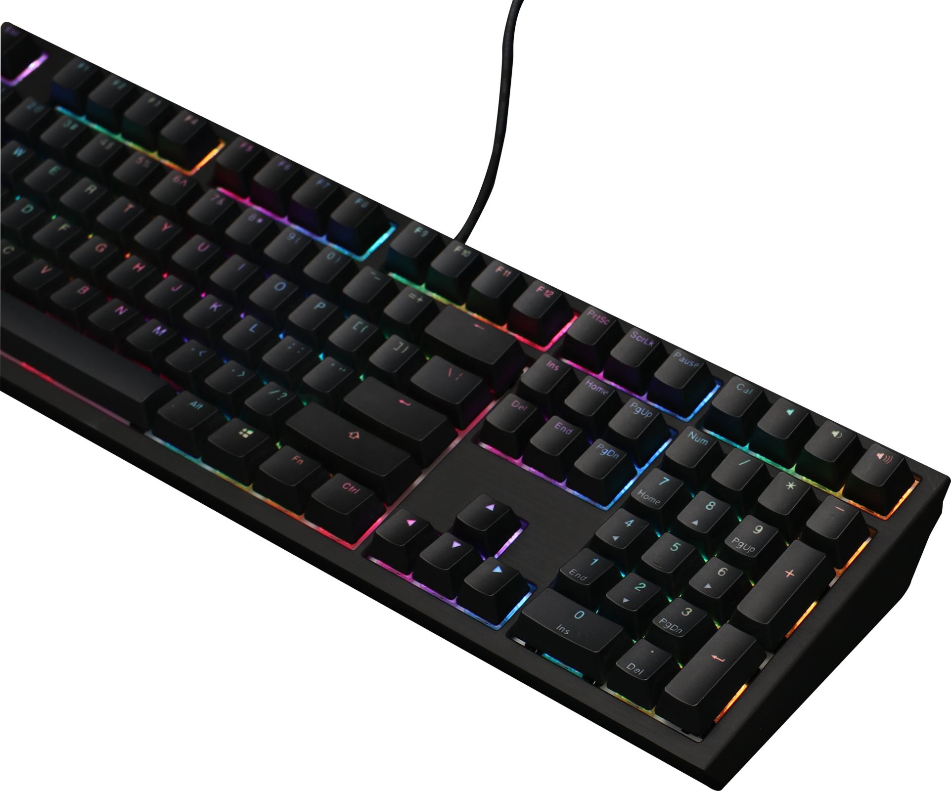 Ducky Shine 7 Blackout - MK Exclusive First Release - RGB LED Double Shot  PBT Mechanical Keyboard with Cherry MX Black, Brown, Blue, Red, Silver, or