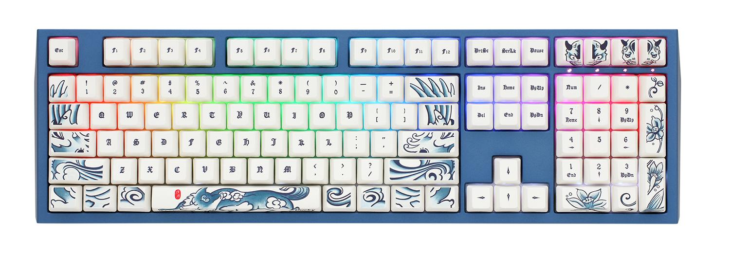 Ducky Year of the Dog RGB LED Dye Sub PBT Mechanical Keyboard with Cherry  MX Black, Brown, Blue, Red, Silver, or Silent Red switches