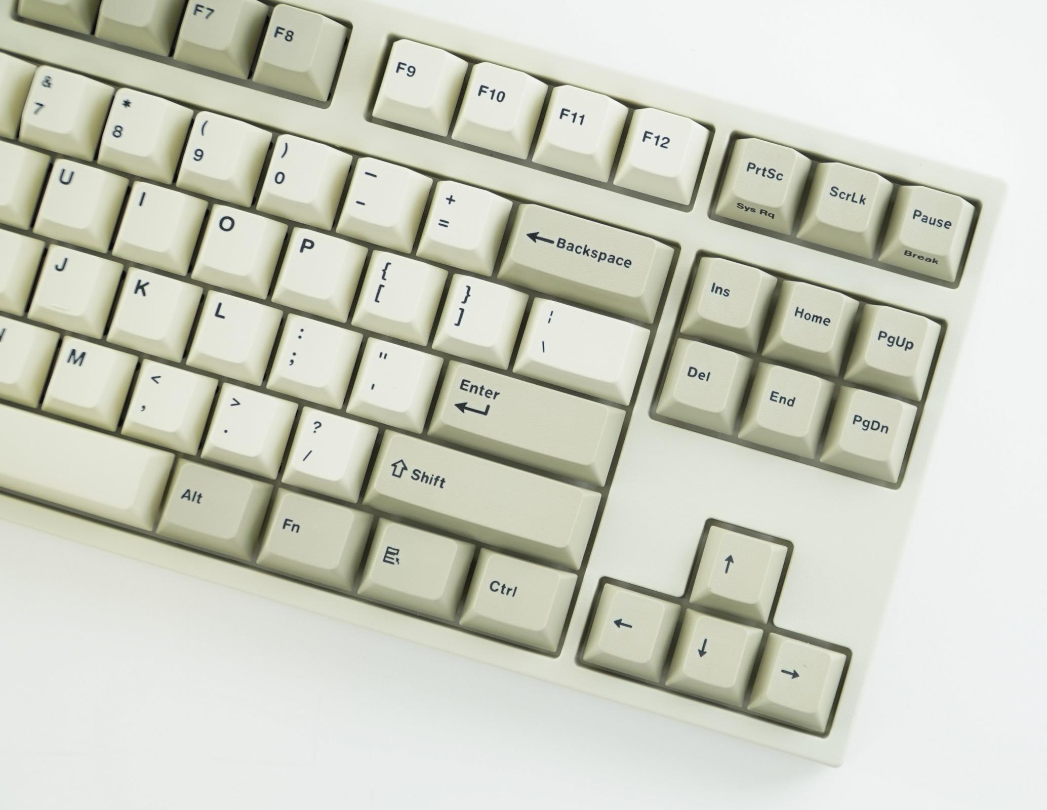 af4ec8d2c4b Leopold FC750R Two Tone White PD TKL Double Shot PBT Mechanical Keyboard