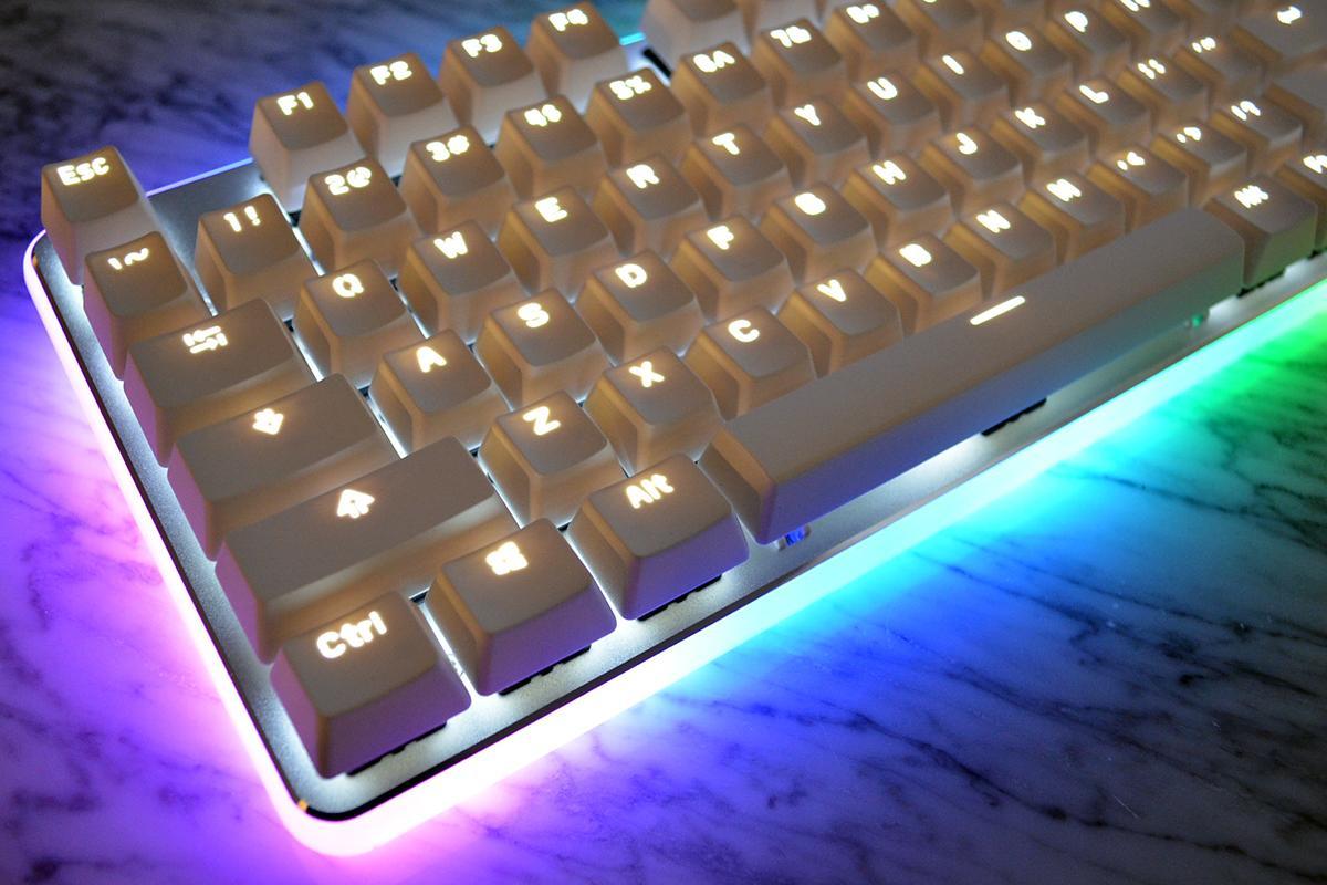 Ganss GK-87 White LED TKL Double Shot PBT Mechanical